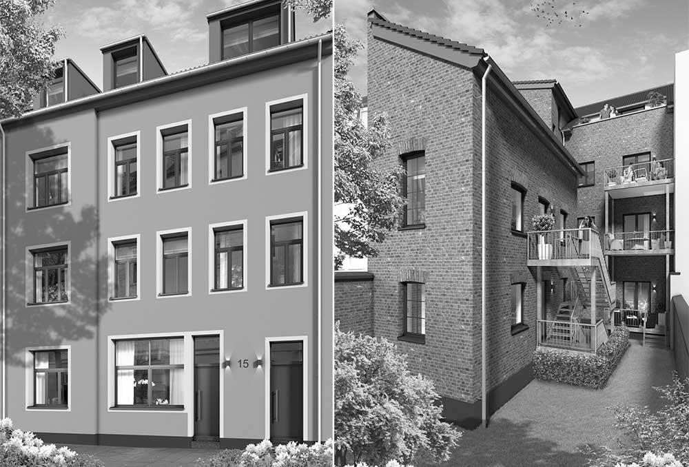 Objektbild: neues beletagewohnen - hinter altem backstein